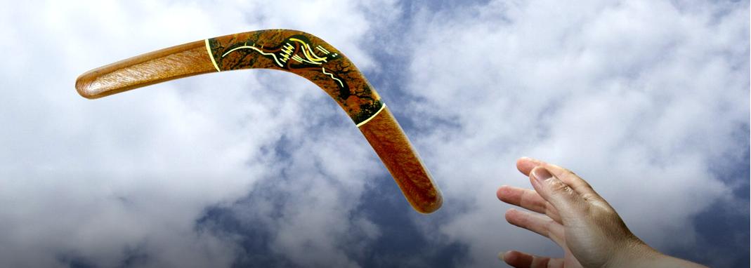 A teoria do Boomerang, o que vai.. volta!
